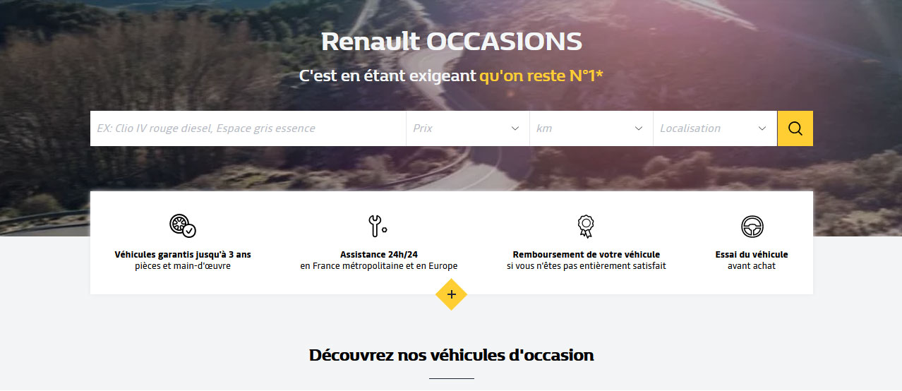 Renault Véhicules d'occasion multimarques